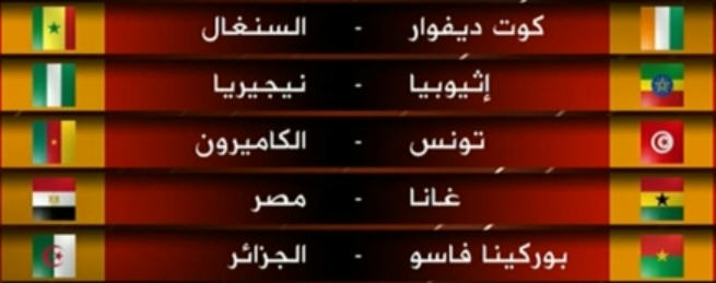 الجزائر  في  مواجهة بوركينافاسو   نتائج  القرعة